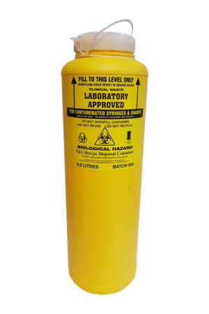 Sharps Container 9.0 litre Laboratory Approved